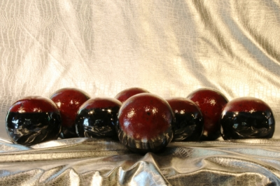 4 inch dark red on Black fireball