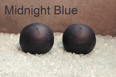 Painted Terrecotta fireball Midnight Blue