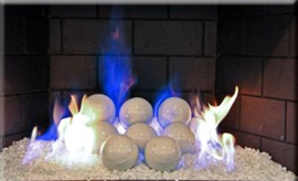 Fireplace terracotta fire balls for fireplace glass