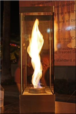 VortexEd fire on glass