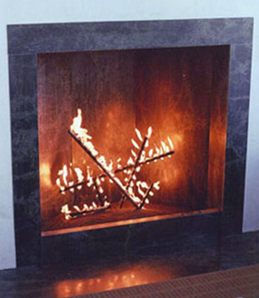 Custom fireplace Burner sticks